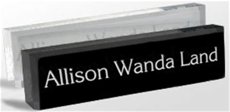 acrylic desk name plates name plates logo reusable desk blocks and wedges