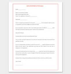 trainee appointment letter 9 for word doc pdf format