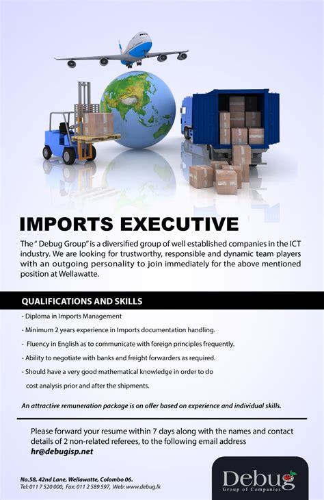 What Is The Minimum Experience Required For Executive Mba by Imports Executive Vacancy In Sri Lanka