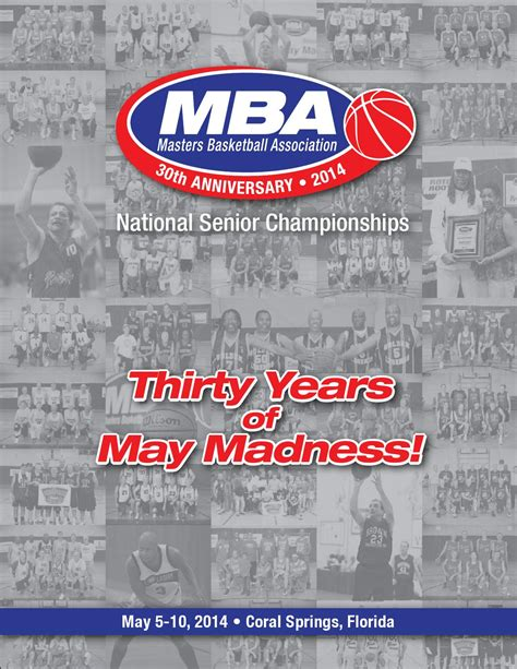 Mba Mississippi Basketball Association by 2014 National Chionships Tournament Program By Masters