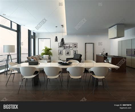 Modern Apartment Kitchen Table Luxury Modern Apartment Living Room Image Photo Bigstock