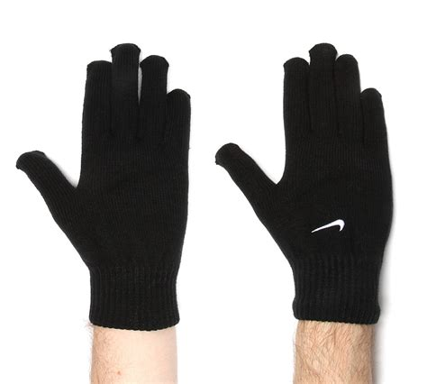 nike knit gloves nike knitted glove black footasylum