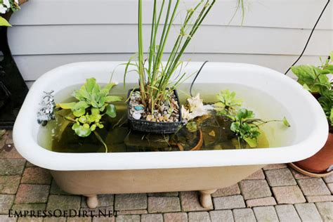How To Build A Small Backyard Waterfall Diy Bathtub Garden Pond Empress Of Dirt