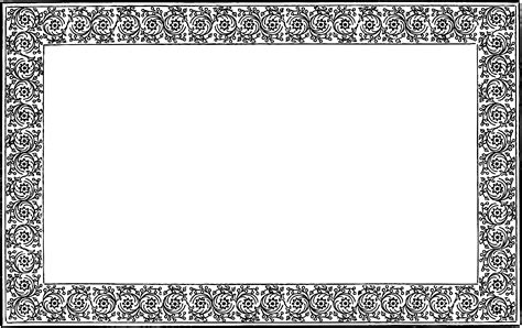 cards transparent template for a 4x6 free vintage frame border clip vector oh so nifty