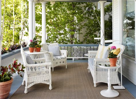 Decorating Ideas Porch Impressive White Wicker Floor L Decorating Ideas Images