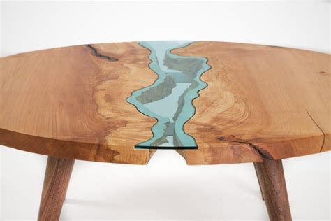 The River Collection: Unique Wood and Glass Tables by Greg Klassen   Homeli