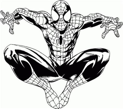imagenes a blanco y negro de spiderman dibujos de spiderman fotos dise 241 os para pintar ellahoy