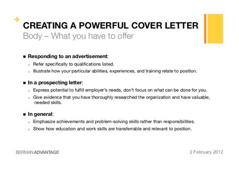creating a powerful cv amp cover letter
