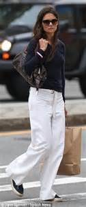 Katie Holmes steps out in slouchy wide legged trousers as