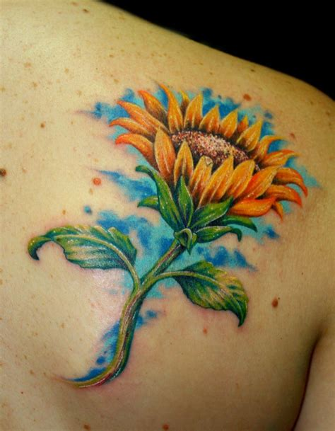 tattoos images sunflower tattoos