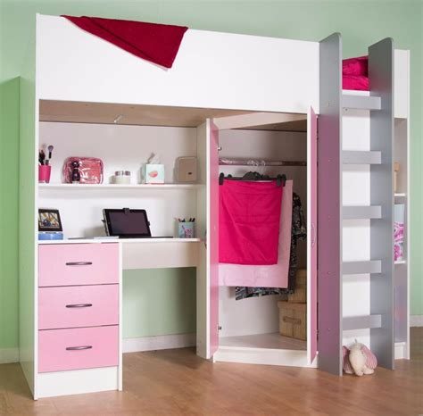 glamorous childrens beds with built in wardrobe pics 25 best ideas about high sleeper on pinterest high beds