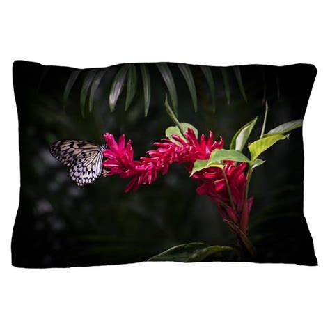 Butterfly Pillow Cases by Butterfly On A Flower Pillow By Zinchiksworld