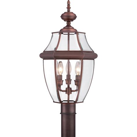 Outdoor Copper Light Fixtures Ny9043ac Quoizel Lighting Ny9043ac Newbury Outdoor Fixture In Aged Copper Goinglighting
