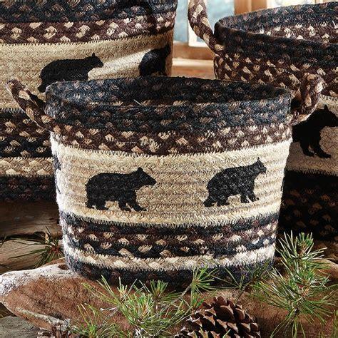 black bear braided utility basket small