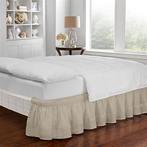 easy fit bed skirt easy fit baratta camel twin full bed skirt 16309beddtfucml