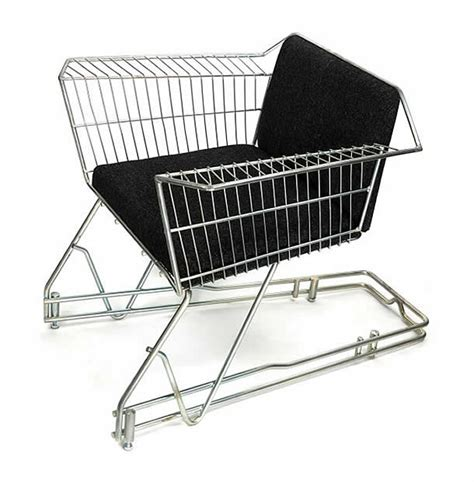 shopping cart chair diy shopping cart turned into chair by max mcmurdo