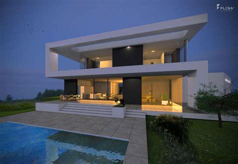 architektur einfamilienhaus modern modernes einfamilienhaus im bauhausstil mit flachdach 2