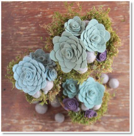 Handmade Felt Flowers Tutorial - diy felt succulents tutorial two diy handmade flowers