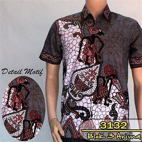 Kemeja Batik Black Prada baju batik pria eksklusif kemeja lengan pendek motif