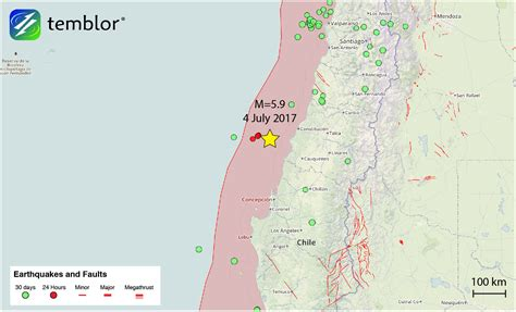 Chile Earthquake Search Chile Earthquake Location Map Temblor Net
