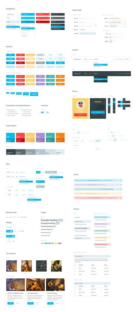 design elements bootstrap flat style bootstrap components ui kit psd download