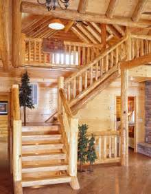 Log Home Stairs by Log Home Staircases 171 Real Log Style