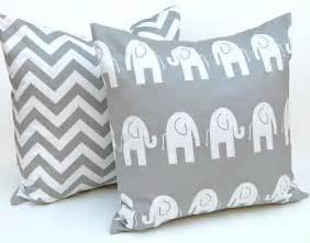 decorative pillows children decor gray animal by