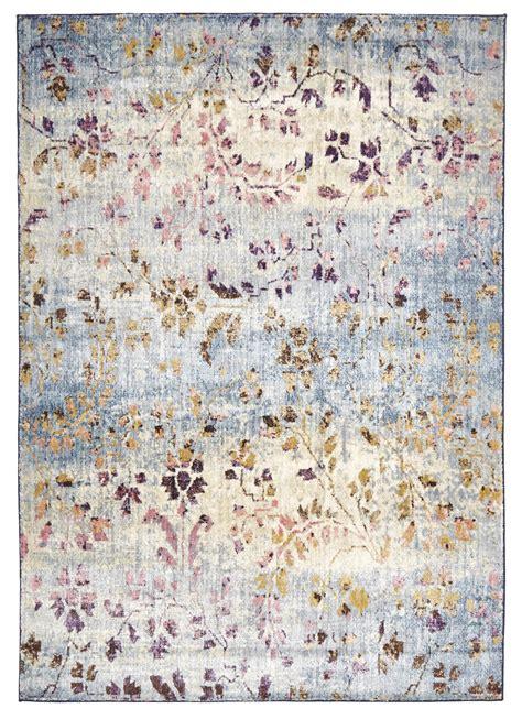au rugs kizhi pastel floral motif rug