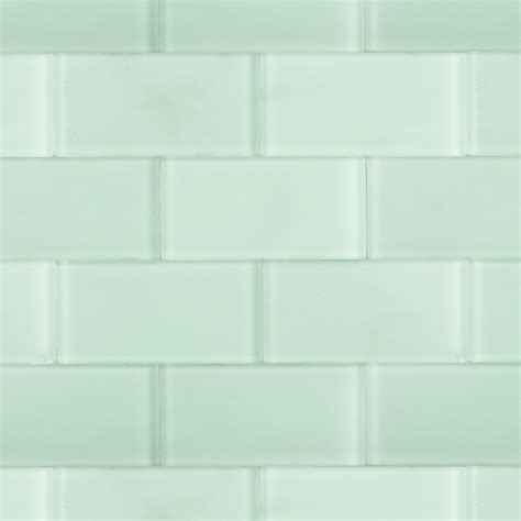 glass tiles shop for loft seafoam frosted 3 x 6 glass tiles at tilebar com
