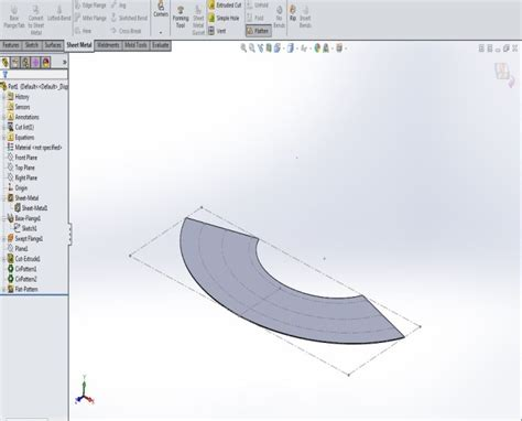 pattern sheet metal solidworks solidworks 2016 representing sheet metal