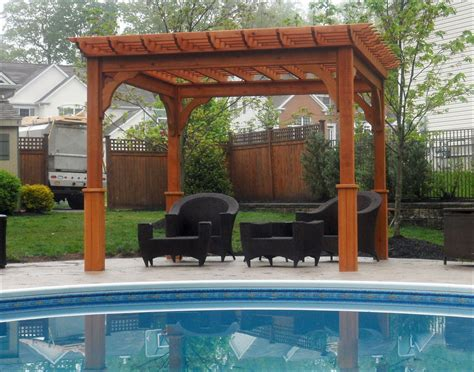Customer S Photo 10 X 10 Cedar Deluxe 4 Beam Pergola 10 X 10 Pergola
