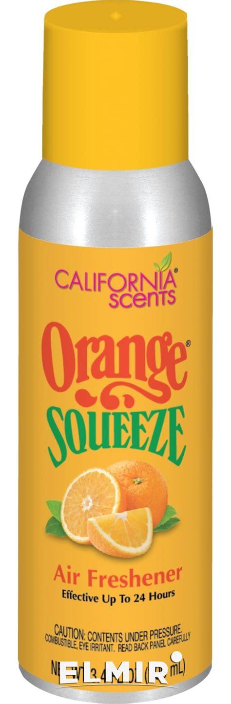 Car Scents Orange Squeeze Orange Blossom california scents orange squeeze os 3 4 oz