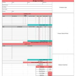 Cost Sheet Template Excel by Costing Spreadsheet Template Spreadsheet Templates For