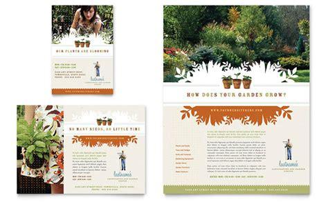 Gardening Ads Landscape Garden Store Flyer Ad Template Design