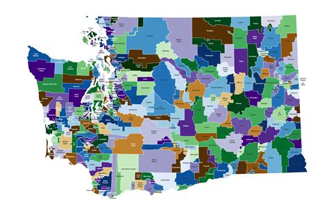 school district washington school districts map my