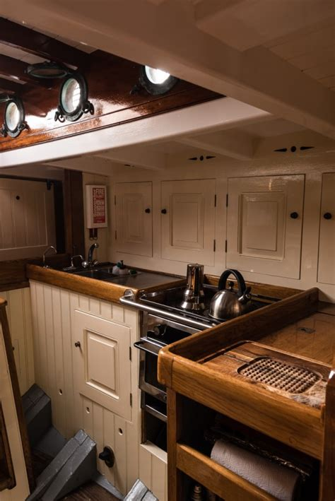 vintage boat interiors luke powell pilot cutter wooden sailing yacht for sale