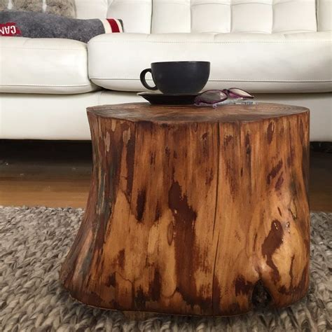 stump side table log side tables log stool rustic coffee