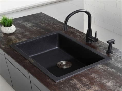 black granite kitchen sink kraus undermount kitchen sink granite black undermount