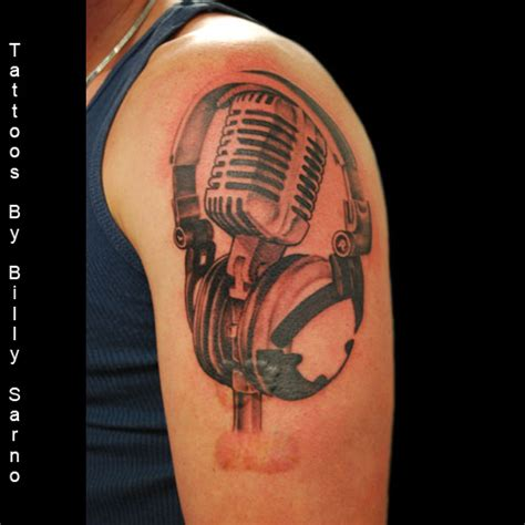 microphone tattoo on chest 27 microphone and headphone tattoos