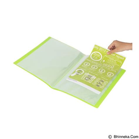 jual bantex display book 20 pockets a4 3143 65 lime