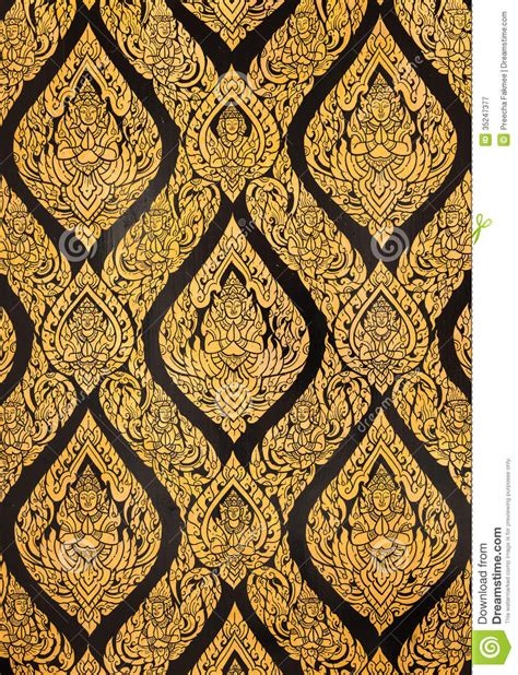 gold pattern paint art of thailand royalty free stock photography image