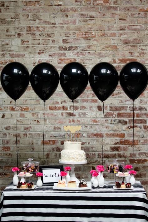 pink and black bridal shower decorations top trend for 2015 bridal shower balloon decors