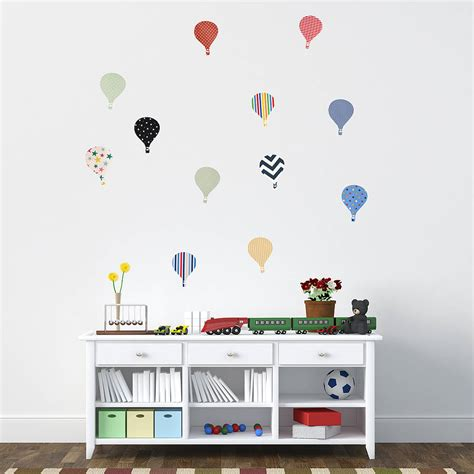 childrens wall stickers children s air balloon wall stickers by oakdene
