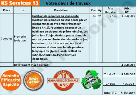 Devis Isolation Des Combles 2175 by Devis Isolation Combles Isolation Id 233 Es