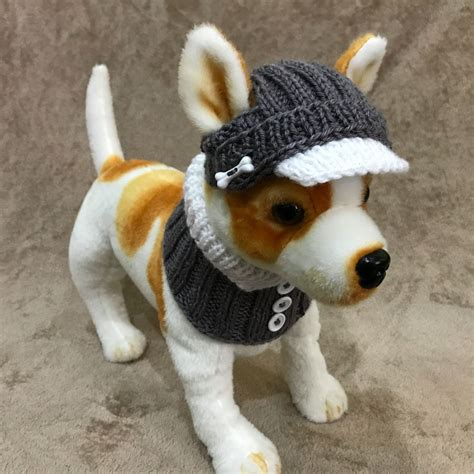 knitted hats for dogs pet clothes apparel knit hat and collar scarf