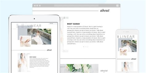 linear layout web design linear by modern luxe creative showit