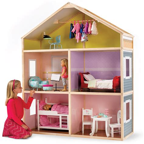 tall doll houses the 6 tall dollhouse hammacher schlemmer
