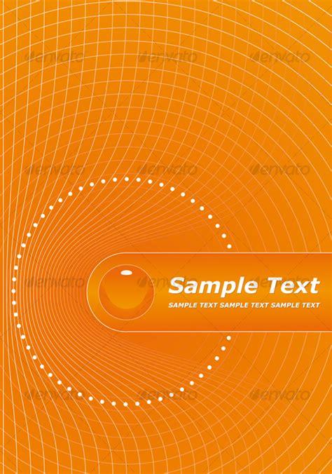 orange title page design graphicriver