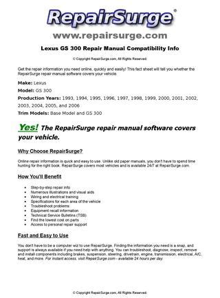 online auto repair manual 2000 lexus gs electronic throttle control lexus gs 300 online repair manual for 1993 1994 1995 1996 1997 1998 1999 2000 2001 2002