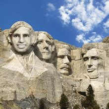 Mount Rushmore Photoshop Template Make Your Own Mount Rushmore Online With Face In Hole Effect